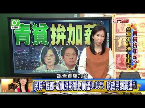 台灣-年代向錢看-20180328 電價物價漲?賴揆:去年薪水漲 五成以上民眾沒感覺?