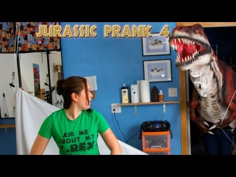 Ask me about my T-Rex! - Jurassic Prank 4 (T-Shirt Photo Shoot)