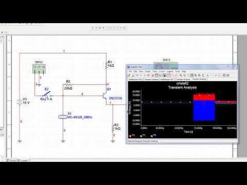 Simulación con Multisim Transient Analysis