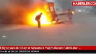 Turkish Companies Burned to the Ground