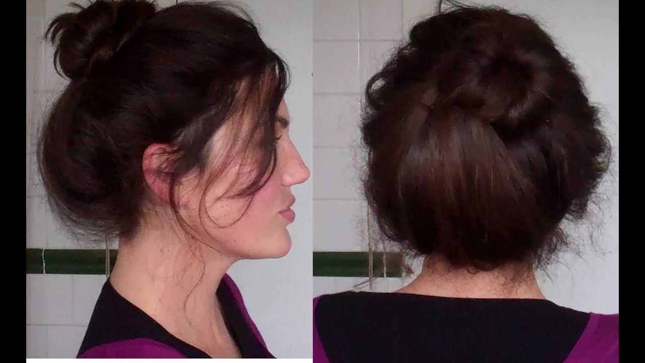 Easy Im Perfect Messy Bun Tutorial Hairstyle Long Hair