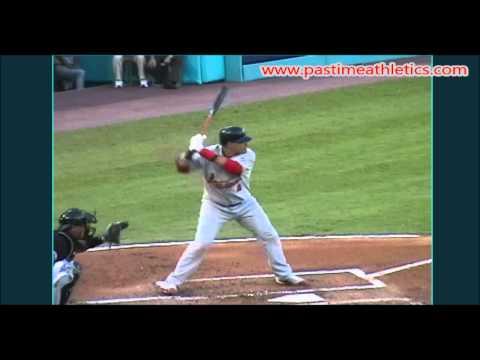 Yadier Molina Slow Motion Baseball Swing - Hitting Mechanics Instruction St. Louis Cardinals