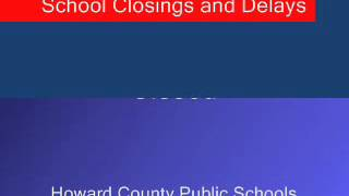 Maryland school closings and delays