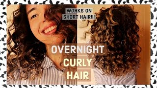Heatless Curls for Short Hair | How To Get Super Small Curls