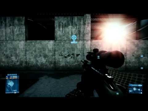 Battlefield 3 Sniper Rifle Comparison L96, M98B, M40A5 and SV98 Part 1.