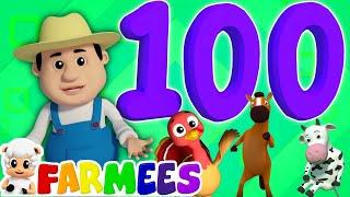 con số bài hát 1-100 | con số vần | trẻ em bài hát | Numbers Song 1 - 100 | Numbers Song | Kids Song