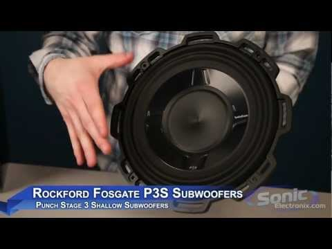 Rockford Fosgate P3S Shallow Car Sub | Punch Stage 3 Subwoofer