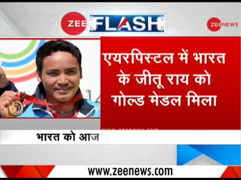 CWG 2018: Jitu Rai Wins Gold In Men's 10m Air Pistol; Bronze For Mitharval