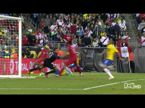 PERU 1 - 0 BRASIL - COPA AMERICA CENTENARIO 2016 - GOL DE RAUL RUIDIAZ
