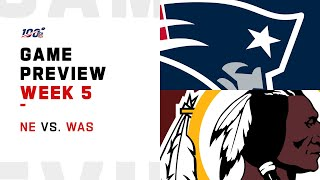 New England Patriots vs. Washington Redskins Week 5 NFL Game Preview