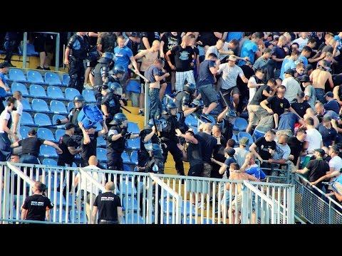 Dinamo Zagreb vs Hajduk Split 12.07.2015 Corteo, Fight, Support