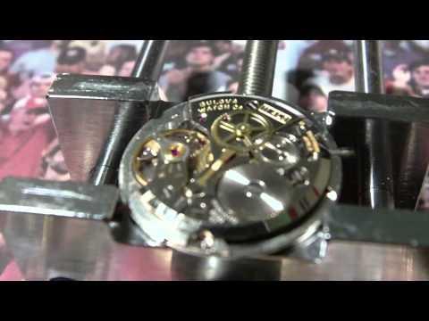 Bulova wrist watch movement manual wind.