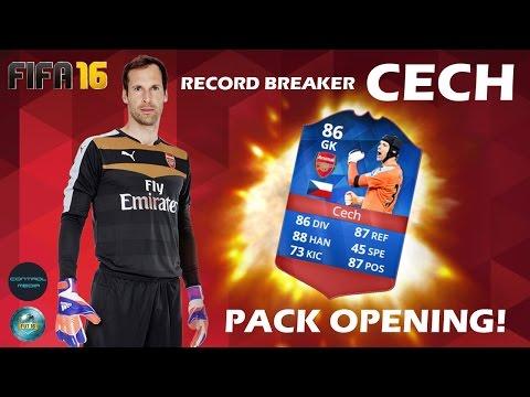 Record Breaker Cech in a PACK! FIFA 16 FUT Pack Opening - ControlMedia