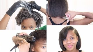 Trim + Silk Blowout + Dry Hair Solutions   My 3 Month Routine   Start To Finish