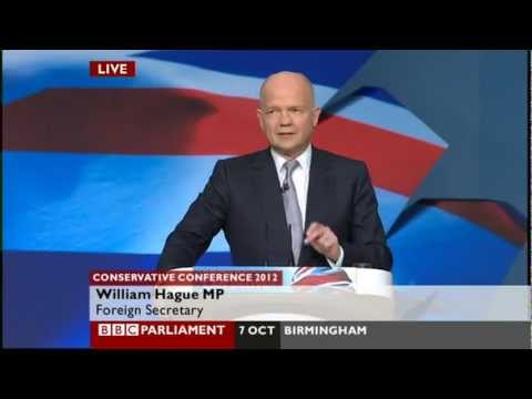 William Hague - Conservative Party Conference 2012