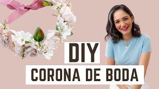 DIY (Easy) Bridal Flower Crown