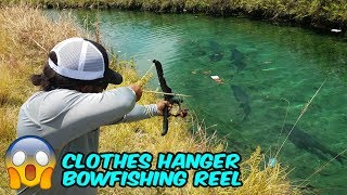 DIY BOWFISHING SETUP from Clothes Hangers!!!