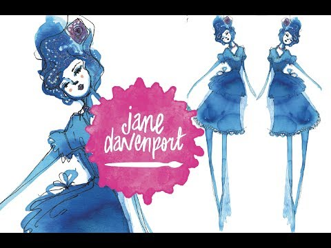 Jane Davenport INKredible Inks for fashion illustration 2