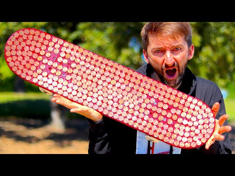 EXPLODING PENNY BOARD! | YOU MAKE IT WE SKATE IT EP. 224