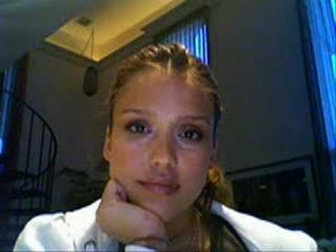 Jessica Alba The Stare Response on ibeatyou Video