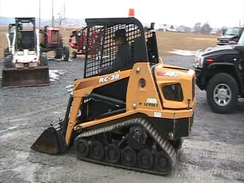 Bobcat Skid Steer >> ASV RC30 - YouTube