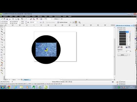 Como colocar imagem atrás de qualquer objeto no CorelDRAW X5.