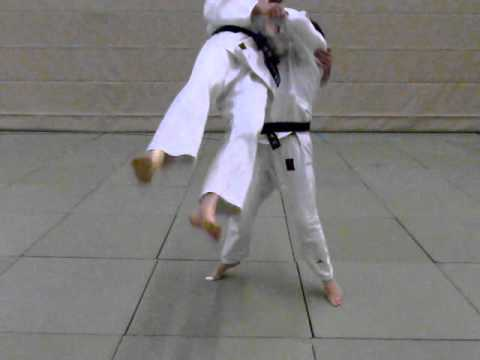 Ushiro-goshi as a counter against Koshi-guruma (slow motion - Judo TSV Bassen) Image 1