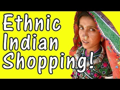 Jaipur ( Rajasthan ) Markets - ethnic / traditional shopping in Bapu Bazar (Bazaar) of Jaipur