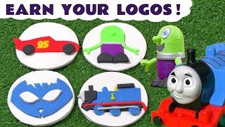 Thomas and Friends Play Doh Logo story with Cars McQueen PJ Masks Catboy and Funny Funlings TT4U