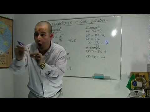 Matemática - Aula 6 - Equação do primeiro grau - exemplos de exercícios