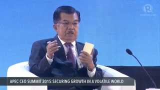 Download video APEC CEO Summit 2015: Q & A with Indonesia VP Jusuf Kalla