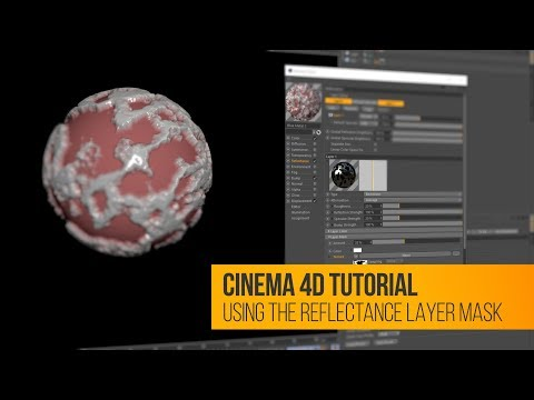 C4D Tutorial: Using Layer Masks in the Reflectance Channel