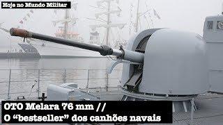 """OTO Melara 76 mm, o """"bestseller"""" dos canhões navais"""