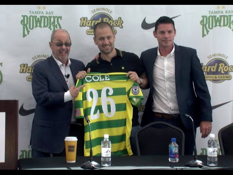 Tampa Bay Rowdies Introduce Joe Cole - Press Conference - 5/11/16