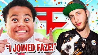 FaZe Leader Reacts To My Little Brother JOINING FaZe! (Youngest Member) FaZe Kaylen!