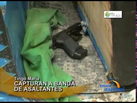 Ucayali: Capturan a banda delincuencial en Tingo María
