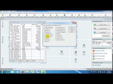 11How to Import Export Chart of Account  in khmer