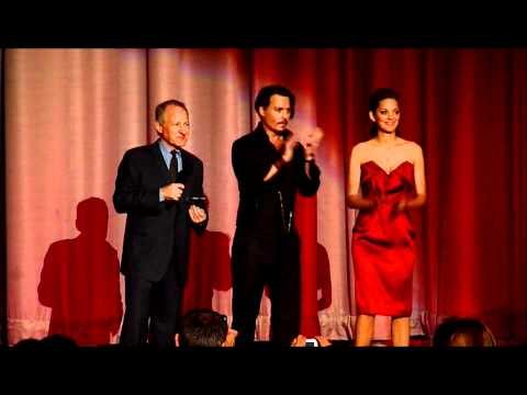 Johnny Depp And Michael Mann Introducing The London Premiere Of Public Enemies