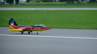 R/C Turbine Model Jet Lockheed Starfighter F-104 German Color