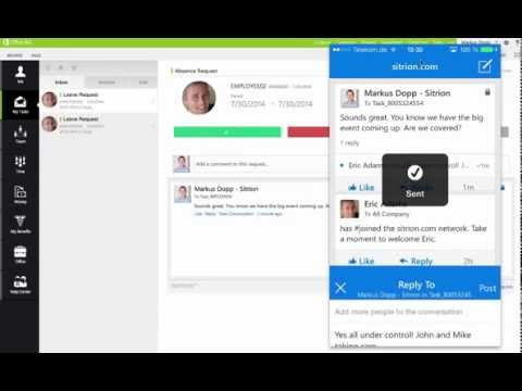 Sitrion on Office 365 with Yammer Integration - No Audio