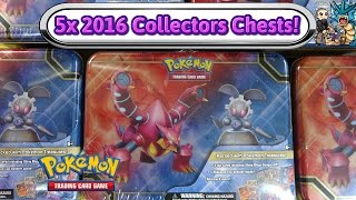 Opening 5x Magearna and Volcanion Collectors Chests! Pokemon TCG unboxing