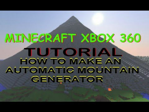 How to make an auto mountain generator Minecraft XBOX 360 (fixed, follow link in description))