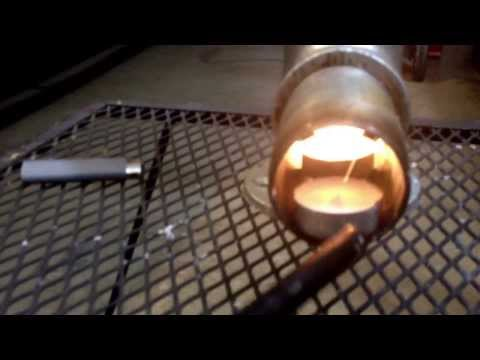 DIY how to candle powered heater rocket stove combination fast easy no tools