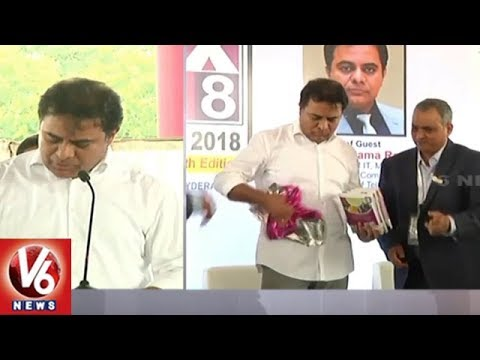 IT Minister KTR Inaugurates IPLEX 2018 Plastics Expo In Hyderabad | V6 News