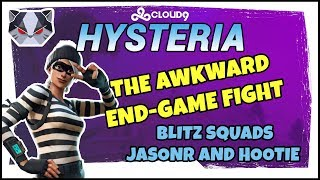 Hysteria | Fortnite Battle Royale  - The Awkward End-Game Fight - Blitz Squads w/ JasonR & Hootie