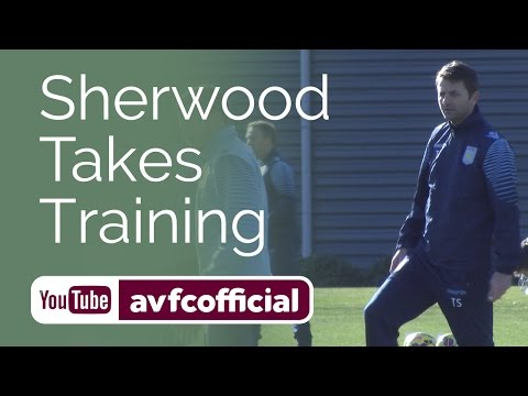Sherwood's first Aston Villa training session