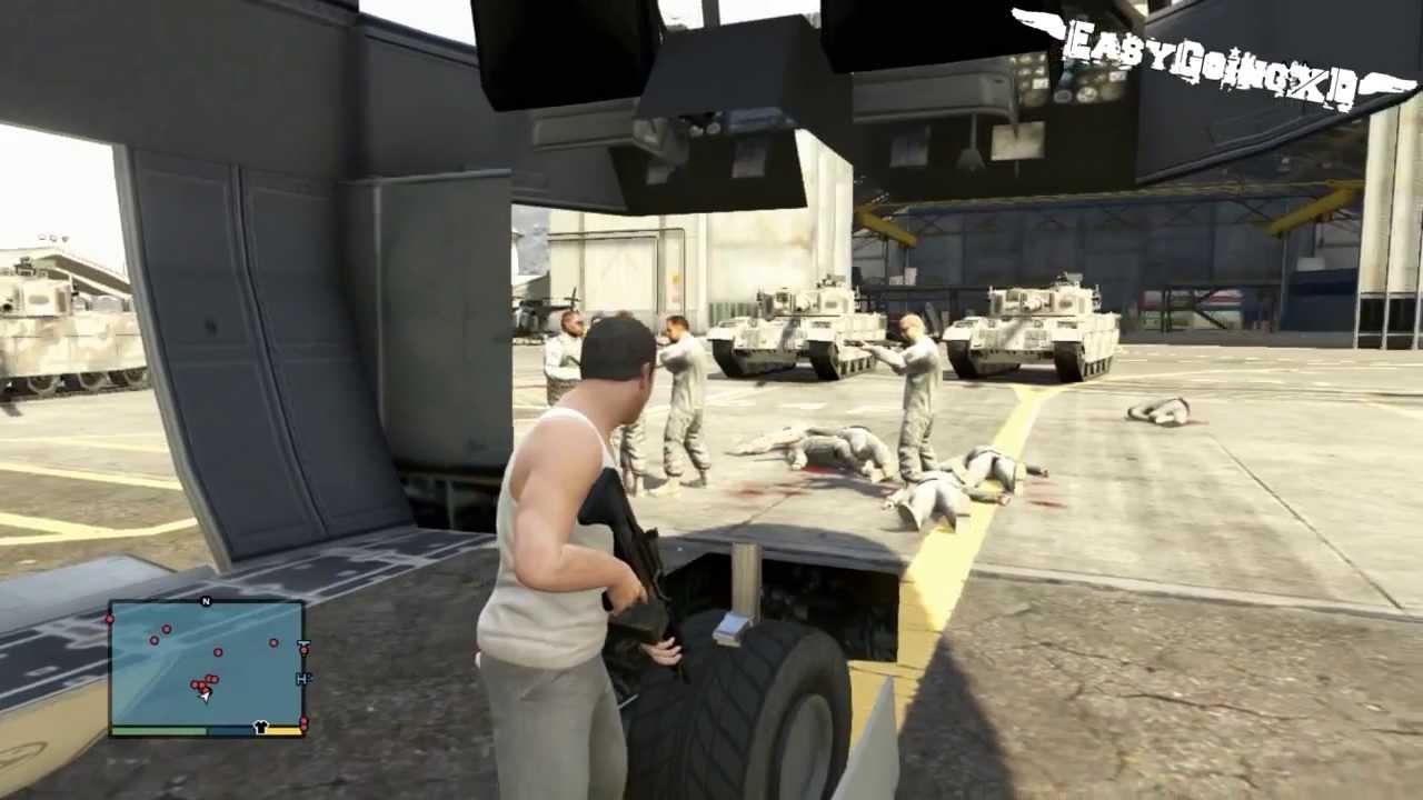 Grand Theft Auto 5 Military Base God Mode Glitch Inside Plane GTA 5 Military Base YouTube