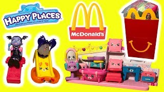 McDonalds Shopkins Happy Places Petkins Opening 16 Happy Meal Toys With Disney Junior Vampirina