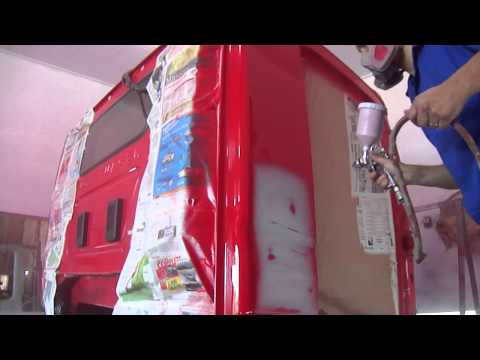 Pintura De Caminhão Na Estufa-Fap Pereira e Pinturas