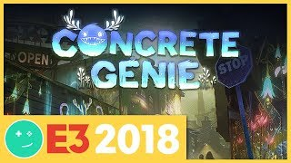 We Played Concrete Genie! - Kinda Funny Games Impressions E3 2018